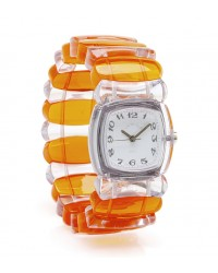 TWT Designer Watch - Orange/Clear